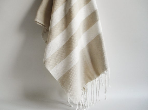 Bathstyle Turkish BATH Towel Peshtemal - Beige