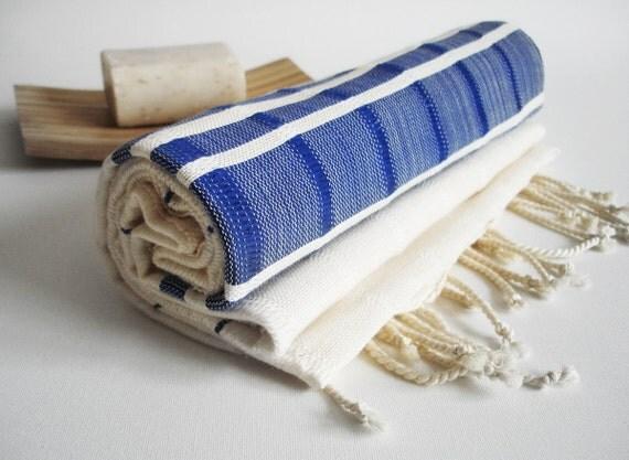 The BEST Quality Turkish BATH Towel Peshtemal -  Bamboo - Parliament Blue