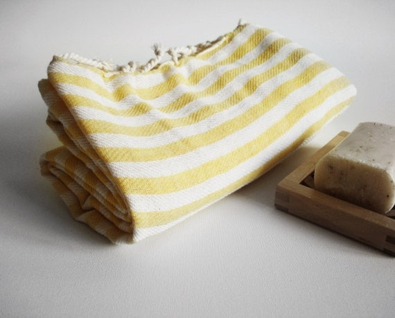 Turkish BATH Towel Peshtemal - Yellow