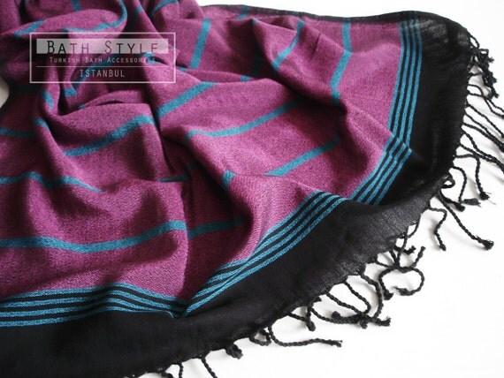 Pareo and Turkish BATH Towel Peshtemal - Willow fibers - Cotton