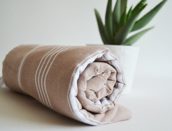 Turkish BATH Towel - Classic Peshtemal - Desert Sand