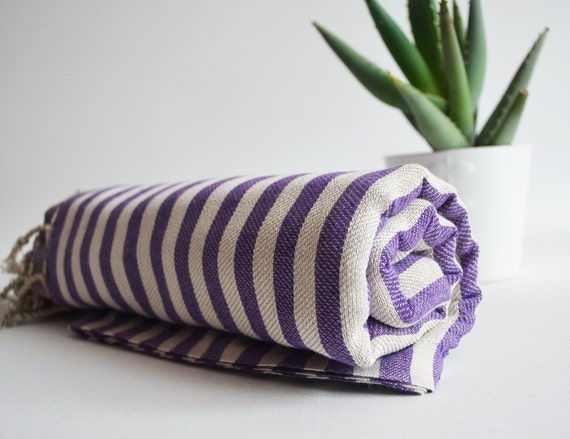Bathstyle Turkish BATH Towel Peshtemal - Purple No:2