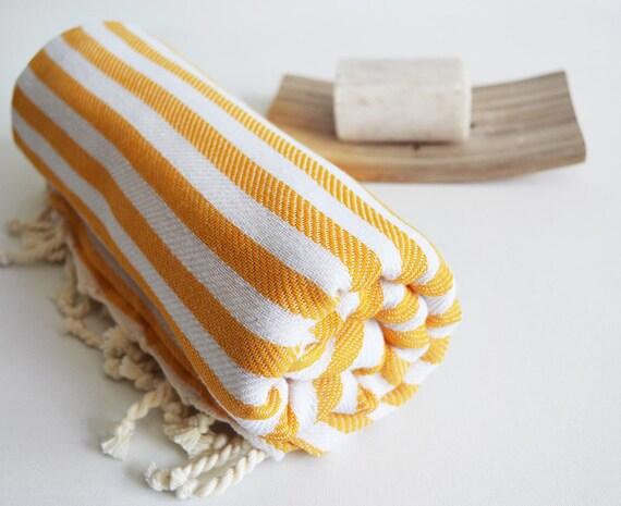 Bathstyle Turkish BATH Towel Peshtemal - Yellow No:2