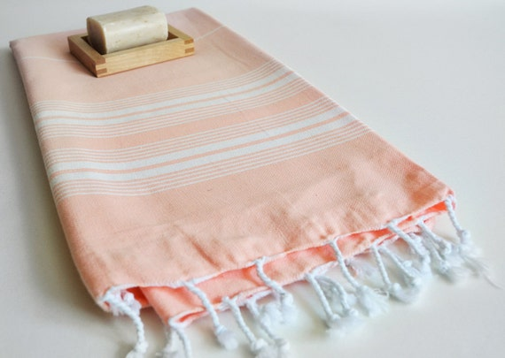 Turkish BATH Towel - Classic Peshtemal - Soft Pink