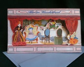 Alice in Wonderland 3D Theatre Greeting Card