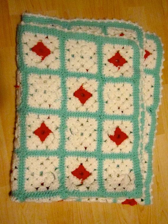 Granny Square Crchet Baby Blanket