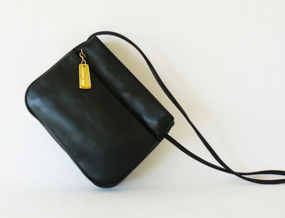 Reserved/ Giani Bernini Black Premium Leather Crossbody Shoulder Bag