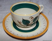Vintage Stangl Fruit Pattern cup and saucer