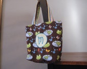 Monogramed reversible tote bag, you pick the color theme