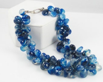 NECKLACE: Glamorous Blueberry Chalcedony DROPS