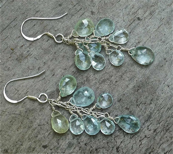 SUMMER SALE:  Earrings Aquamarine Drops