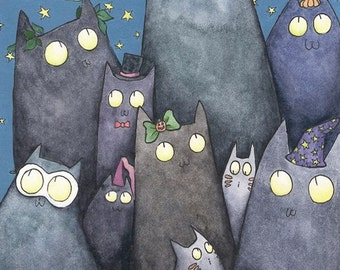 Lots of Cats 8.5x 11 Print
