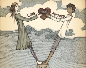 Love One Another- Illustration Print