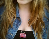 "London Bus Necklace - ""I Love London"""