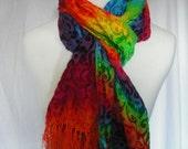 Silk Velvet Tie Dye Scarf
