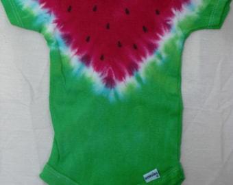 Tie Dye Watermelon Onesie |