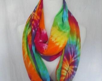 Tie Dye Infinity Circular Scarf/Wrap