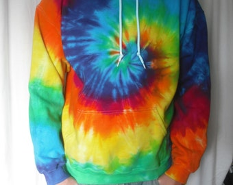 Tie Dye Hoodie Classic Spiral sizes Small through 3XL
