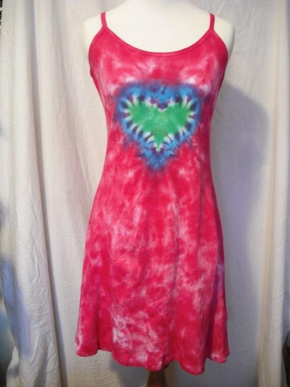Tie dye Sweetheart Strappy Dress