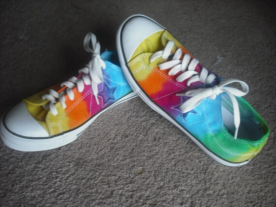 Tie dye Converse One Star Shoes