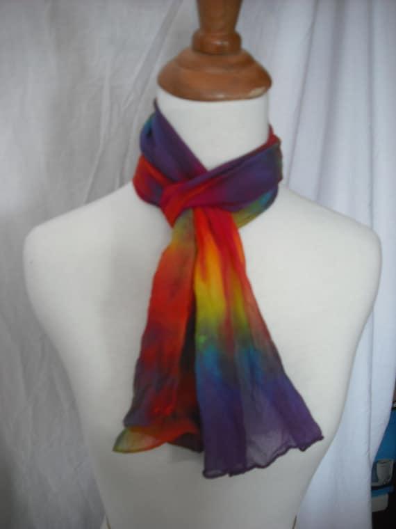 Tie Dye Chiffon Scarf