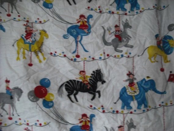 Vintage children at the carnival fabric