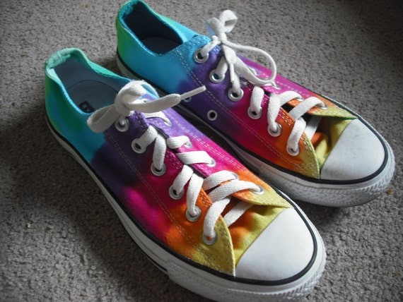 Tie dye Converse All Star Shoes- upcycled
