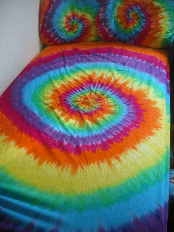 Tie Dye Twin Cotton Bed Sheet Set