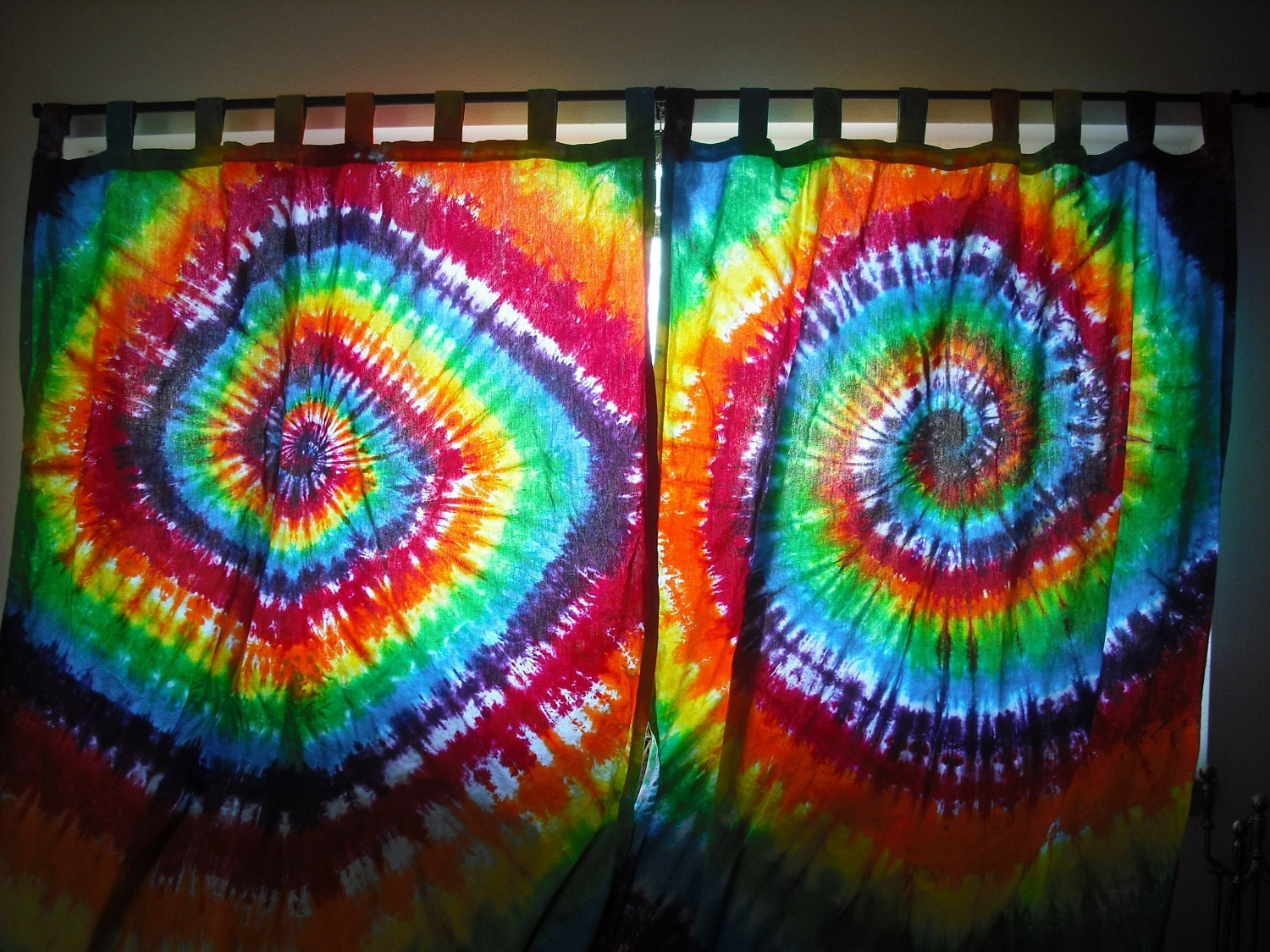 Tie Dye Custom Curtains For Abby