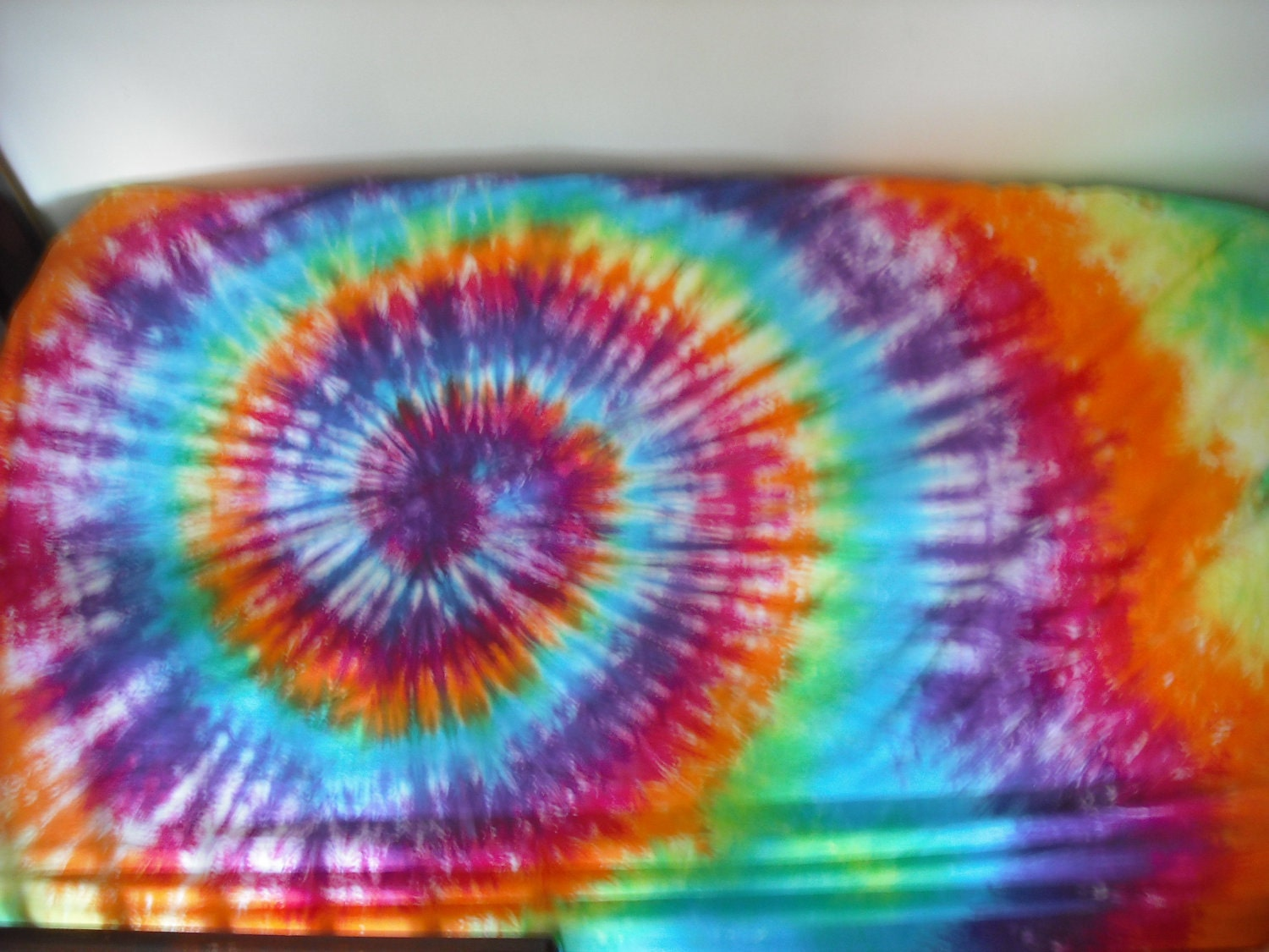 tie dye crib or toddler bed sheet by doyoudreamoutloud on etsy