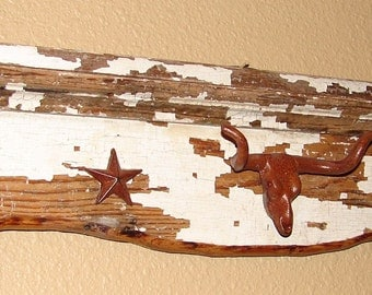 HR001 - Rustic Hat Rack with Longhorn