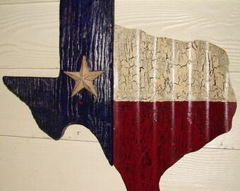 TX004 - Texas Shaped Texas Flag