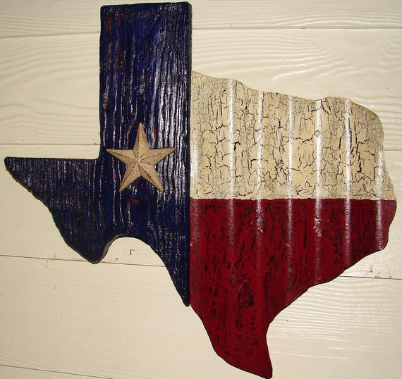 TX002 - Texas Shaped Texas Flag