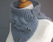 Cable cowl / neckwarmer in grey - made to order