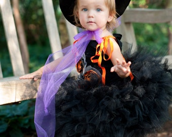 Super cute childrens Witch Costume Tutu Pedi Skirt Dress