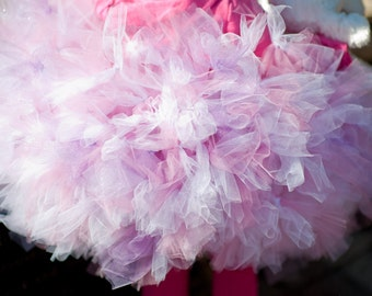 Toddler Beautiful Mauve and Pink FLUFFY Petti Tutu Or Choose your Colors