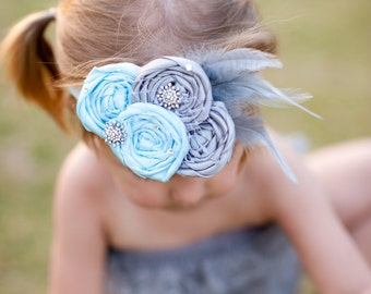 Beautiful Cinderella Inspired Rosette Headband