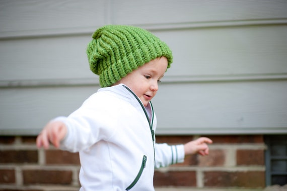 Boys Beanie Slouch Crochet Hat You Choose Color Baby to toddler Sizes