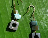 Pearlescent Square Earrings