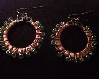 Industrial Irish Earrings - Upcycled Hardware Jewelry