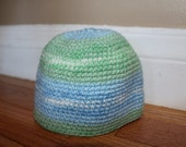 RESERVED Baby Boy Crochet Hat 6-12 mos