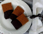 Natural & Organic Gourmet Chocolate Dipped Old Fashion Cinnamon Graham Crakers (12 Count)