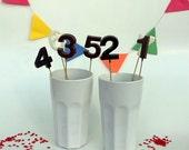 Gourmet Chocolate Number Lollipops (10 count)