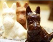Chocolate 3D Scottie Terrier Dog (Solid) (2 count )