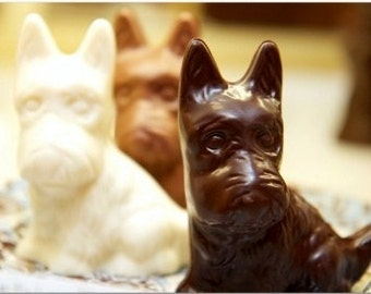 Chocolate 3D Scottie Terrier Dog (Solid) (2 count )