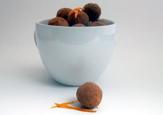 Dark Chocolate Orange Truffles Organic & All Natural (16 count)