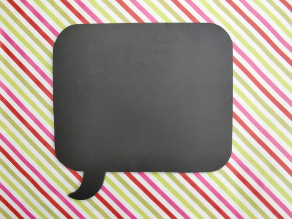 Speech Bubble Chalkboard
