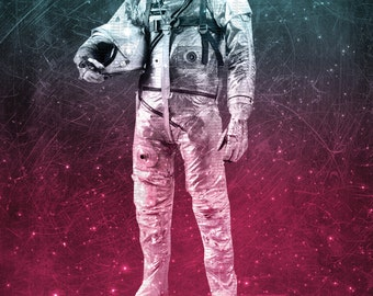 """Limited Edition Digital Print - """"Spaceman"""" by Holly Danger"""