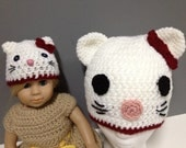 Miss Kitty Hat for Child and Doll