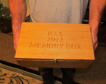 Large Personalized Engraved Jewelry Keepsake Box - Gift - mom, dad, sister, brother, neighbor, boss